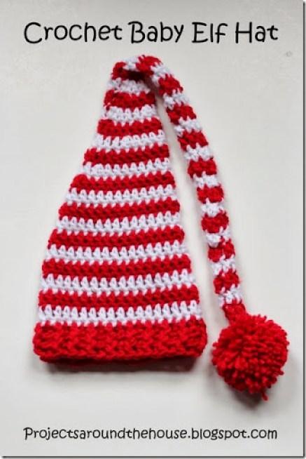 crochet baby elf hat