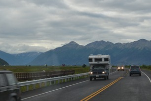 still cloudy but at least we can see the Chugach Mountains