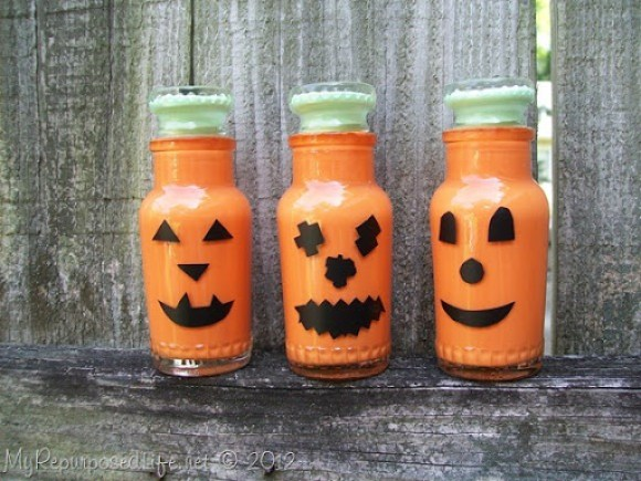 spice bottles repurposed