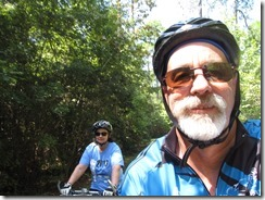 Zeke and the Navigator crusing the bike path