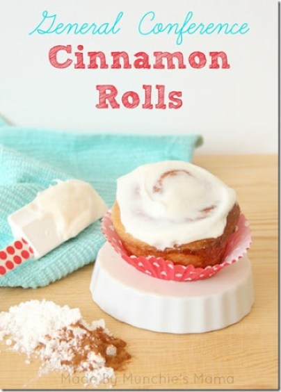 general conference cinnamon rolls- Summer