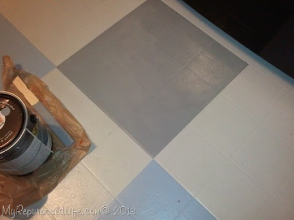 painted vinyl floor