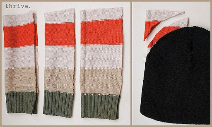 Make mittens & hats from old sweaters - choose-to-thrive.com
