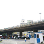 The beautiful town square has been ruined in 1978, when this ugly elevated road has been build over it.