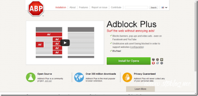 cara pasang adblock plus