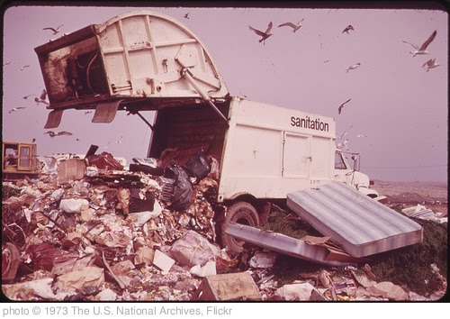 'Landfill Operation Is Conducted by the City of New York on the Marshlands of Jamaica Bay. Pollution Hazards and Ecological Damage Have Called Out Strong Opposition 05/1973' photo (c) 1973, The U.S. National Archives - license: http://www.flickr.com/commons/usage/