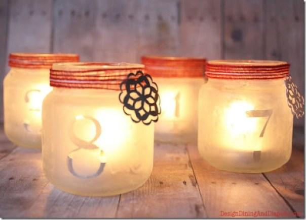DIY Luminary Advent Calendar Jars