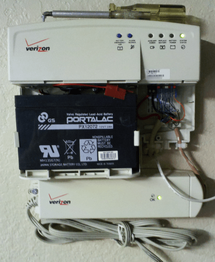 How to use Verizon FIOS Battery Backup for Internet ... Verizon Battery V Wire Harness on