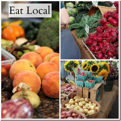 Eat local collage