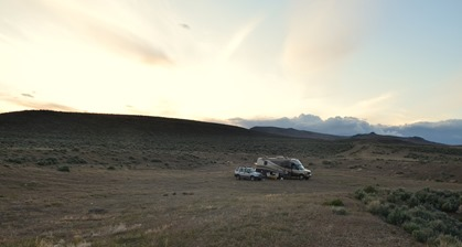 mild sunset at our boondock site near Plush