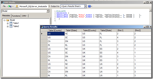 Adding rank identifiers to the table rows