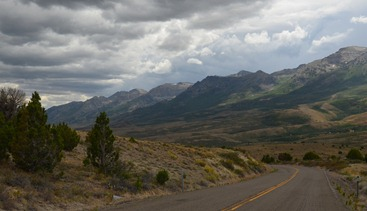 Angel lake Road from Wells, Nevada south toward the Ruby Mountains