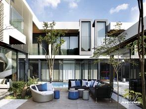 Muebles de diseño en terraza