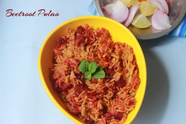 Beetroot Pulao2