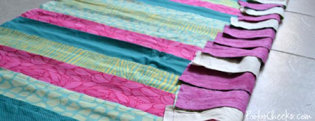 Rag Quilt Sewing Tutoria - Crib Blanket