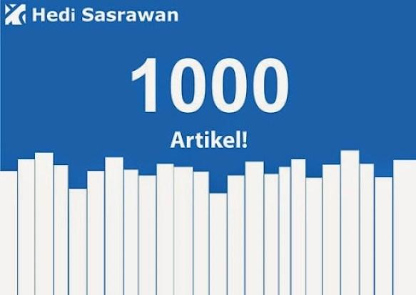 Banner 1000 artikel Hedi Sasrawan