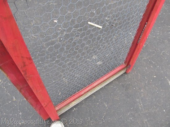 vintage screen door repurposed
