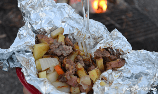 Camping Recipe: Hobo Burgers and Taters