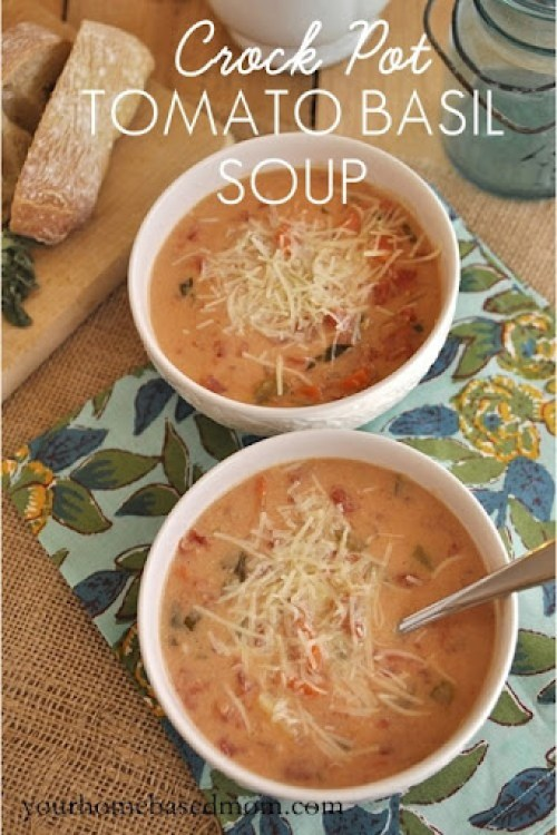 Tomato Basil Soup from The Homebased Mom
