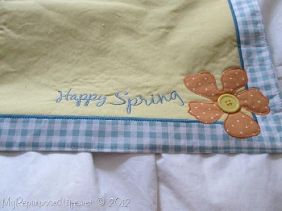 make a pillow out of a place mat