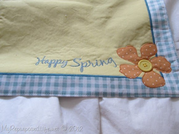 make a pillow out of a place mat