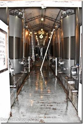 Wine storage tanks, Post Familie Winery