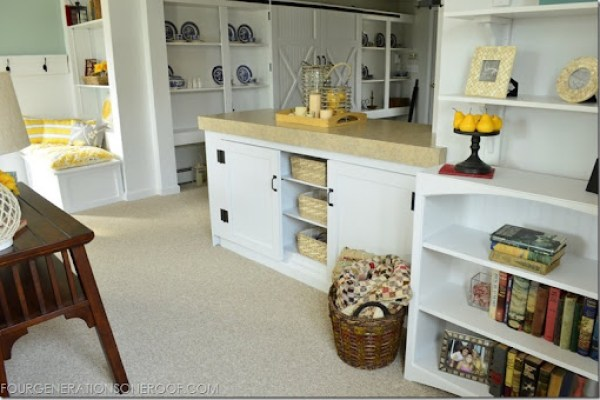 DIY bookcase, DIY barn doors