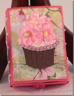 floral cupcake matchbox front