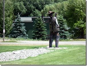 Flyfisher statue in Ennis, MT