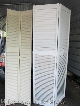 thrifted bi-fold doors