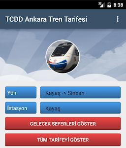 TCDD Ankara Tren Tarifesi screenshot 0