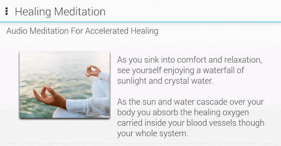 Guided Meditations Lite screenshot 0