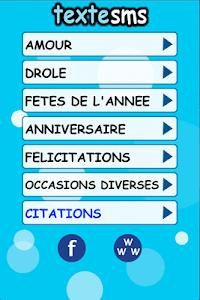 Textesms - idées messages SMS screenshot 0