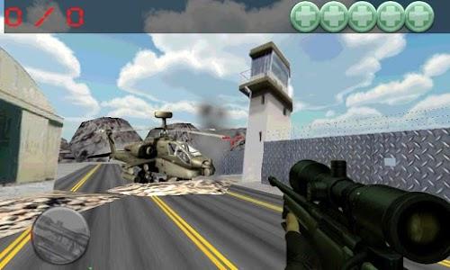 sniper command, airport war screenshot 1