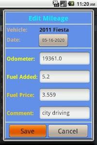 Fuel Mileage Calculator screenshot 5