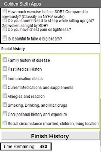 OSCE Respiratory History Check screenshot 1
