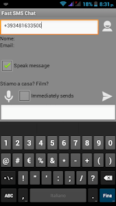 Fast SMS Chat screenshot 0