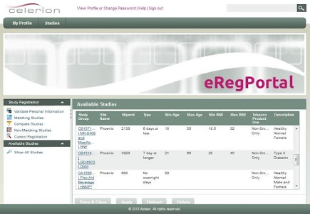 Celerion Clinical Studies screenshot 0