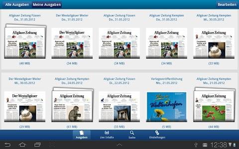 Allgäuer Zeitung screenshot 1