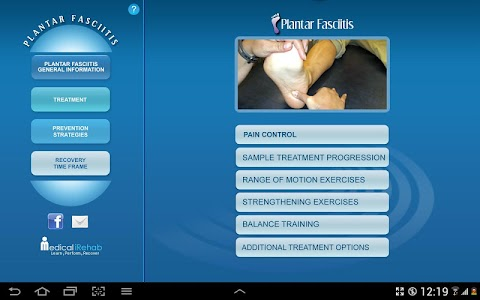 Plantar Fasciitis Tablet App screenshot 2