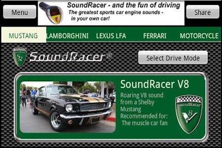SoundRacer FREE Car Sounds screenshot 0