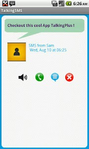 Talking SMS free screenshot 2