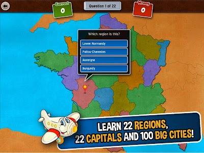 GeoFlight France: Geography screenshot 11