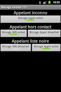 Blocage SMS et Appel screenshot 3