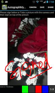 Autograph My Photo screenshot 1