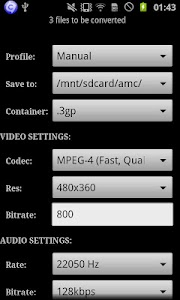 ARMV7 VFPV3 VidCon Codec screenshot 2