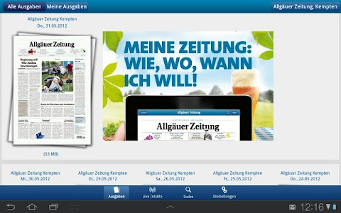 Allgäuer Zeitung screenshot 0