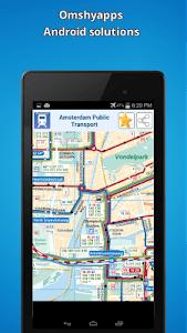 Amsterdam public transport map screenshot 1