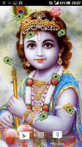 Lord Krishna Live Wallpaper screenshot 0
