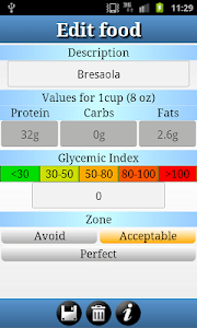 DroidZonePro - Zone Diet screenshot 2